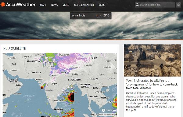 AccuWeather-best weather websites