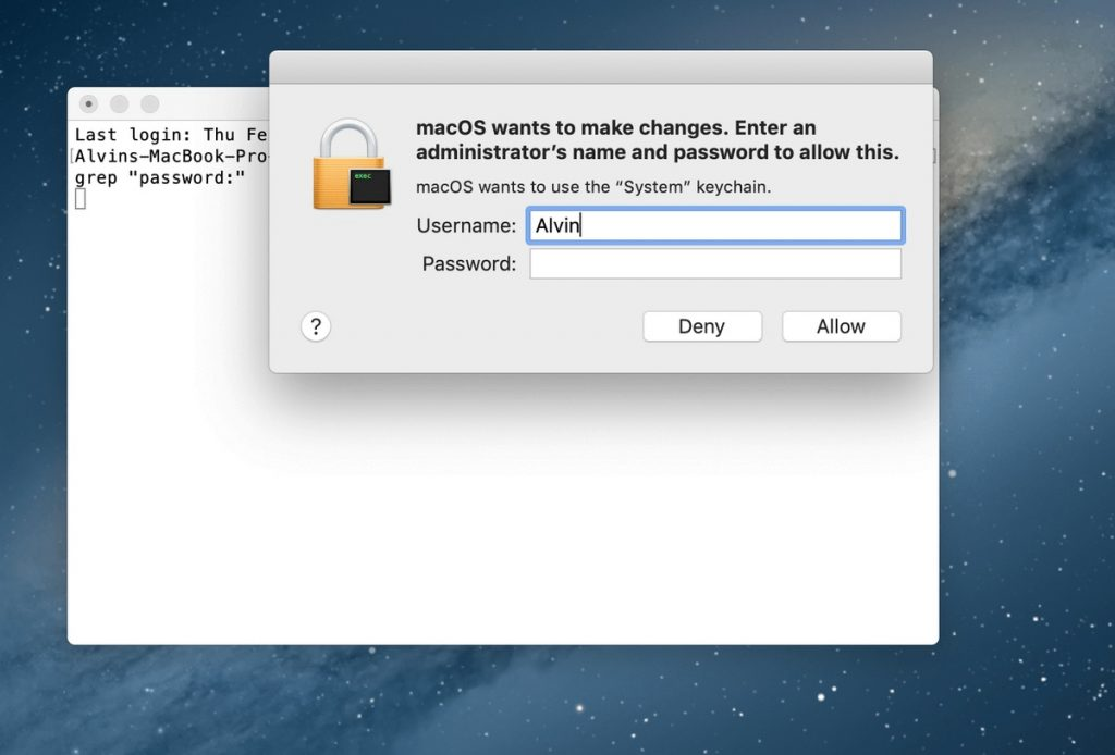 verify-the-typed-command-How to find a wifi password on Mac