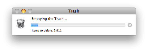 Emptying the Trash