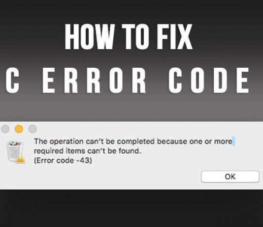 How to Fix Mac Error Code 43