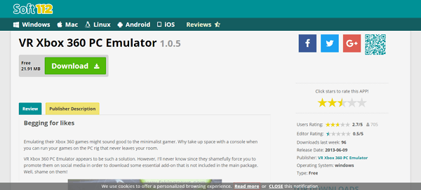VR Box 360 Emulator-xbox one emulator for pc