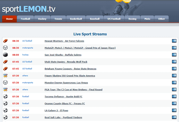 SportLemon-Websites Like FirstRowSports
