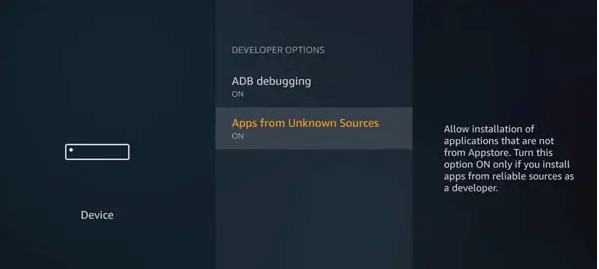 Turn on both ADB Debugging and Apps From Unknown Sources Options-5