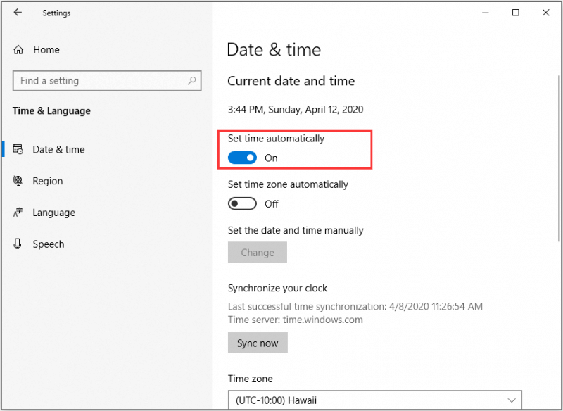 Automate Windows Date and Time