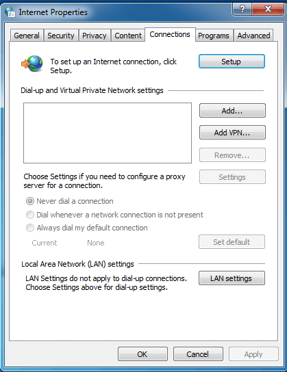 Disable the Automatic Detect Settings-1