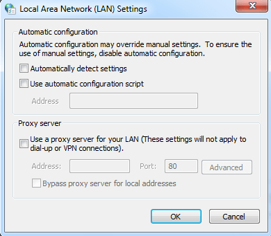 Disable the Automatic Detect Settings-2