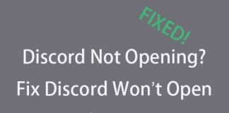 Fix Discord Won't Open