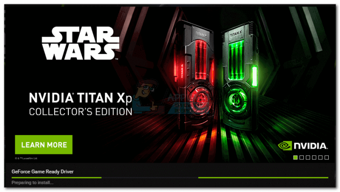 GeForce Experience Stuck At Preparing to Install Screen