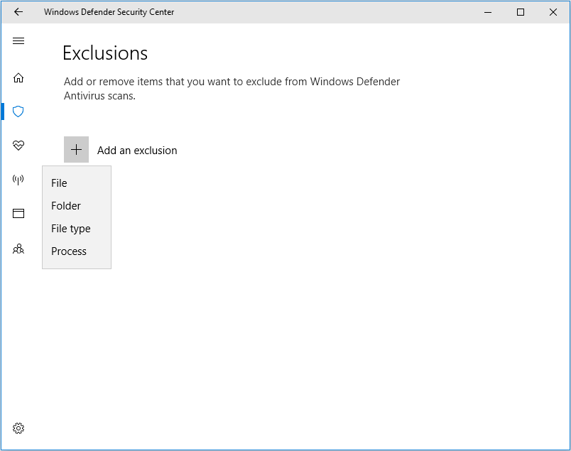 Set Exception on Your Antivirus Software