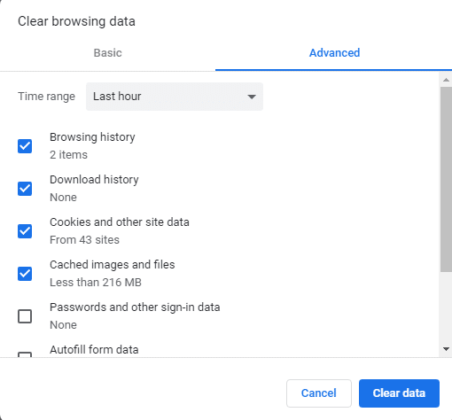 google chrome slow windows 10 issue-Clear Browsing Data-1