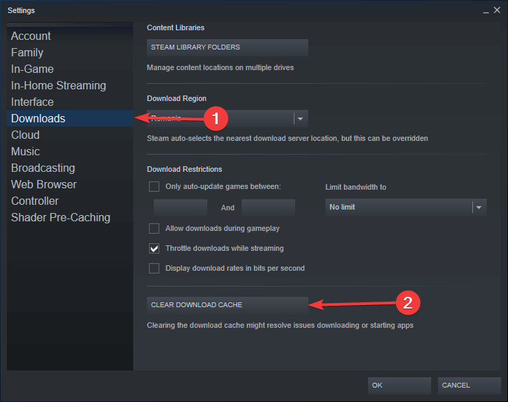 steam download 0 bytes-Clear Download Cache