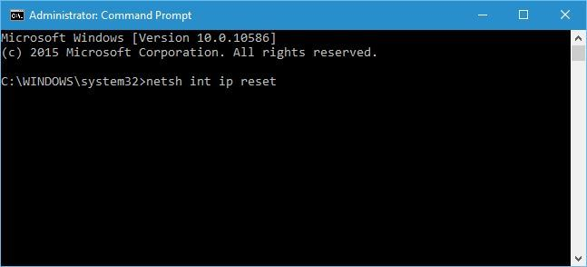 the default gateway is not available windows 10-Reset TCP-IP with the Netshell Command-1