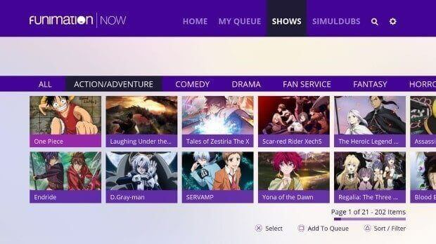Funimation-best legal Animeflavor alternative site