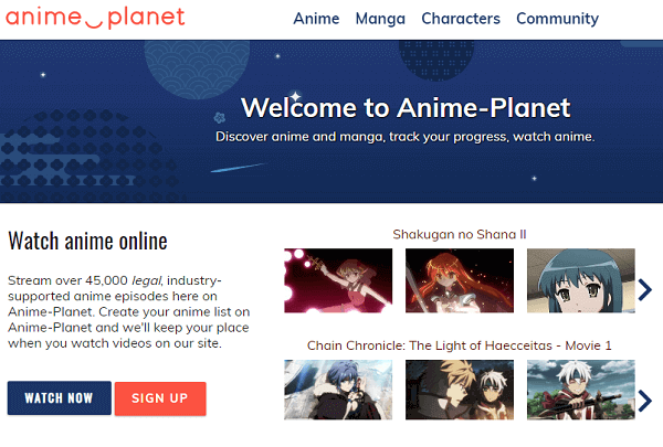 Anime-Planet-Legal KissAnime Alternative