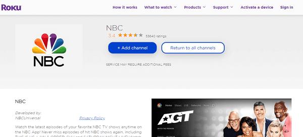 Add NBC Channel