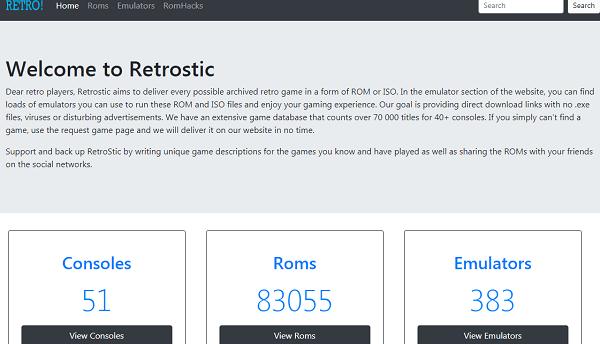 Retrostic-trusted ROM sites