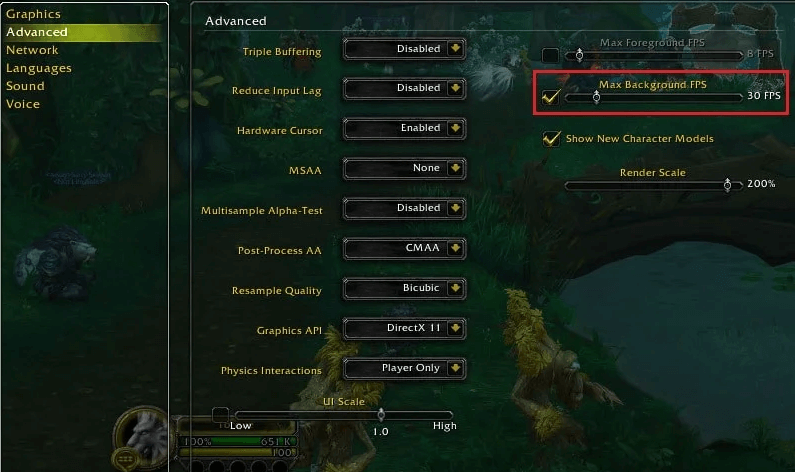 Fix WOW51900319 Error- Change the Background FPS to 30fps-3