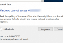 Error Code 0x80070035: The Network Path was Not Found
