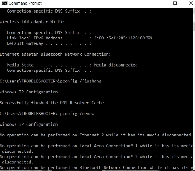 Reset TCP-IP and DNS-err_network_changed guide