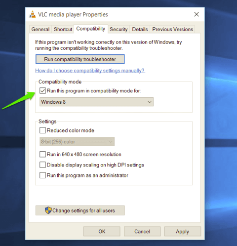 Run the Application in Compatibility Mode